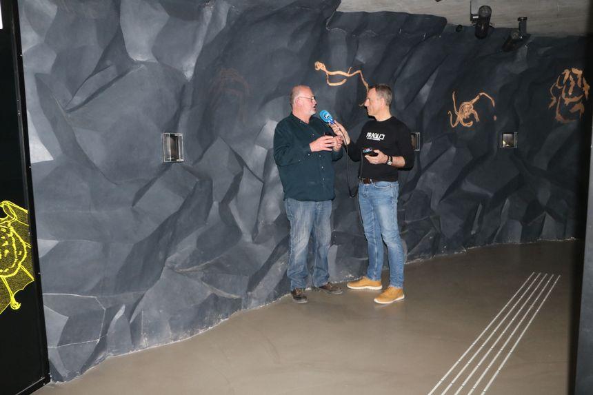 Avec Patrice Hurlin dans la grotte du Musée