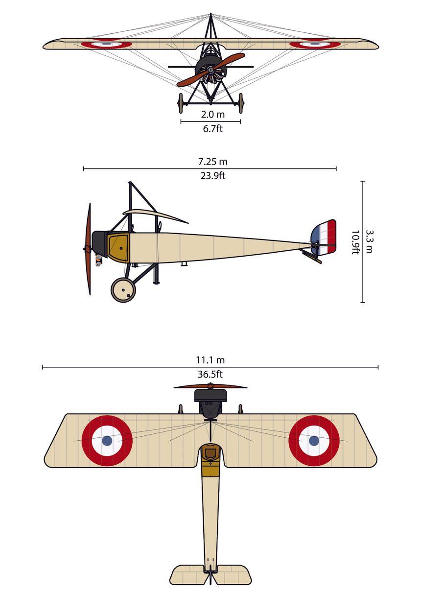 """Le plan du Morane-Saulnier """"Type L""""."""
