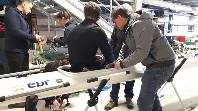 Christophe Clanet  teste avec Raphel Louvigny le siège adaptatif