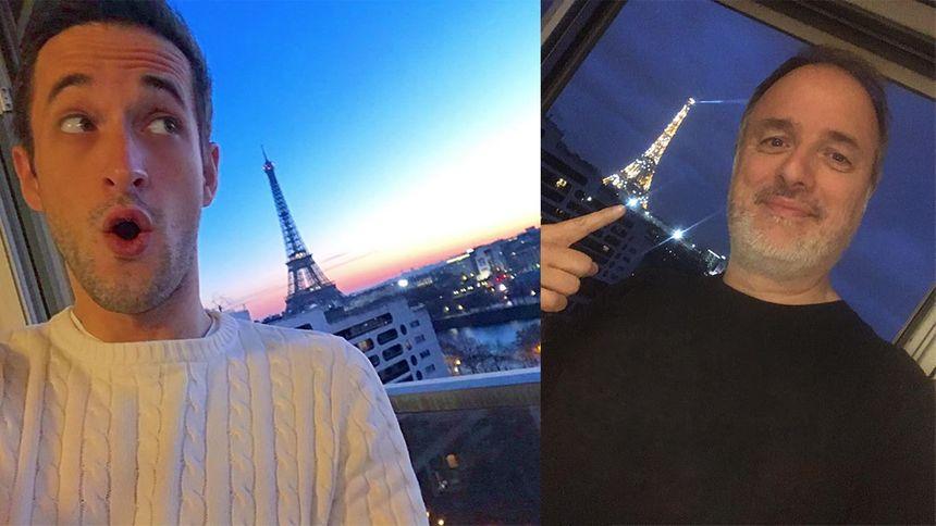 Alexis Thiebaut / Franck Duret : selfies