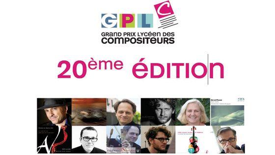 20è édition du Grand Prix Lycéen des Compositeurs