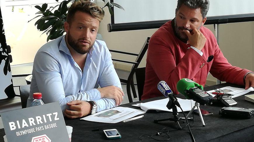 Jean-Baptiste Aldigé et Louis-Vincent Gave lors de la présentation de la saison 2018-2019.