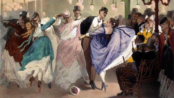 Valse au Bal Mabille par Philippe Jacques Linder (Musée de la Ville de Paris, Musée Carnavalet, Paris, France)