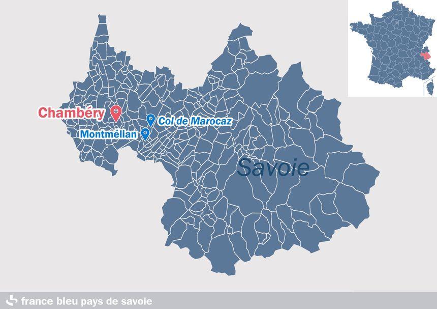 Le secteur de la reconstitution, autour de Chambéry, en Savoie.