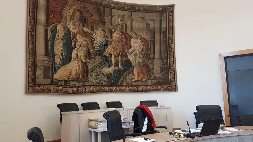 La salle d'audience de la cour d'assises de Riom
