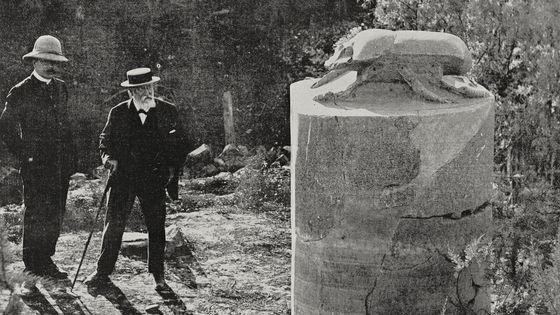 L'égyptologue Georges Legrain et le compositeur Camille Saint-Saens lors d'un voyage en Egypte