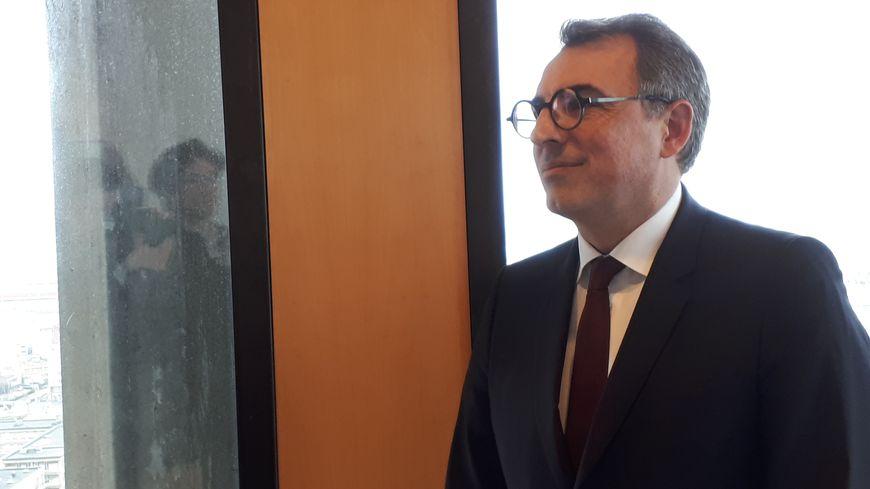 Luc Lemonnier est maire du Havre depuis la nomination d'Edouard Philippe à Matignon.