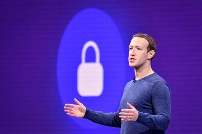 Mark Zuckerberg, en mai 2018 lors d'une conférence Facebook