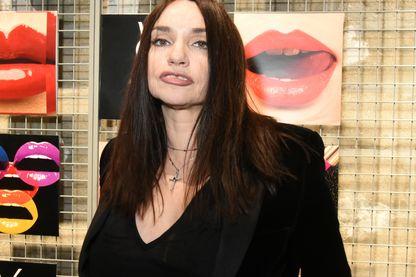Béatrice Dalle, à l'occasion de la Fashion Week YSL Automne/Hiver 2018-2019 (17 janvier 2018, Paris)