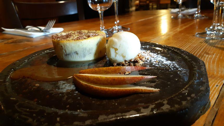 Petit dessert à base de poires...