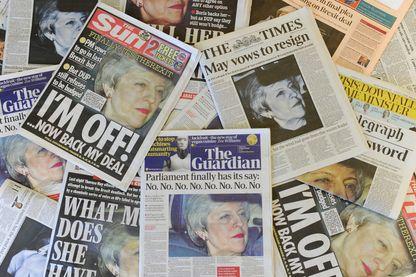 """Les Unes de la presse britannique ce jeudi 28 mars après les """"Non"""" en série des députés"""