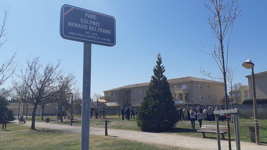 """Le parc """"Colonel Arnaud Beltrame"""" de Monteux."""