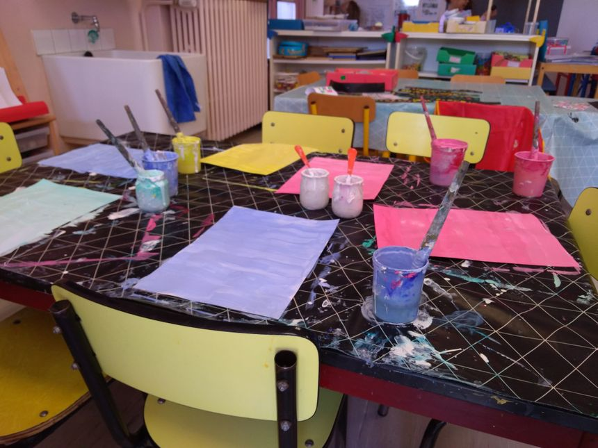 Un atelier pour travailler la nuance de couleurs.