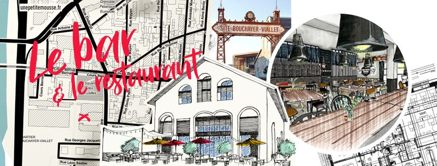 Le croquis de la façade du futur bar-restaurant qui ouvre le 9 avril