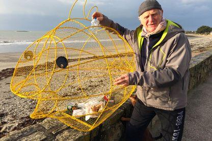Michel Legay et son poisson poubelle