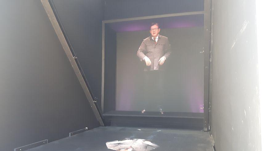 L'hologramme de Jean-Luc Mélenchon, rendu célèbre lors de la présidentielle