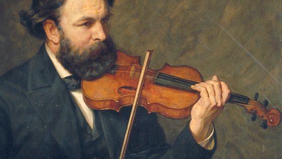 Joseph Joachim par James Archer (1876) Détail / 1868, Max Bruch : Création de son Concerto pour violon n°1- Musicopolis