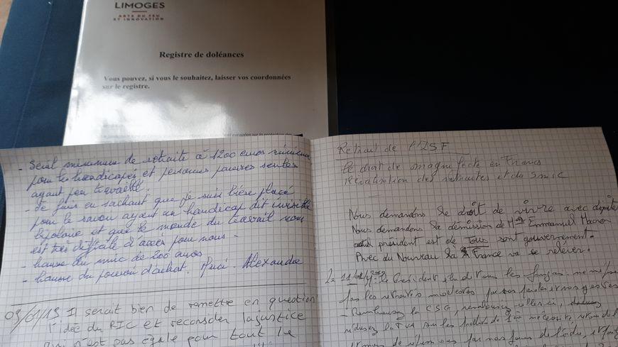 Un registre de doléances ouverts à la Mairie de Limoges (image d'illustration)