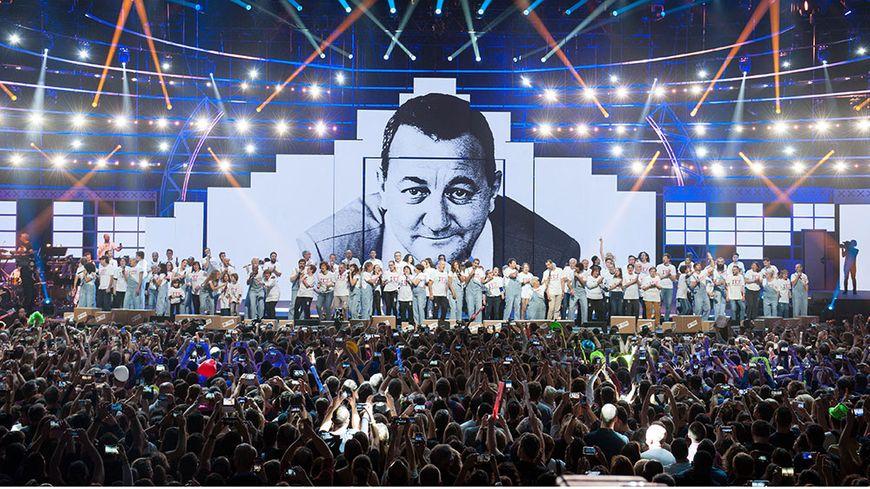 Les Enfoirés en concert à l'Arkéa Arena de Bordeaux