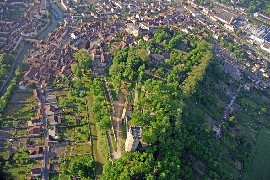 Vue aérienne du parc Buffon