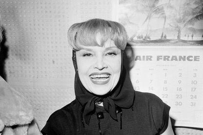 Portrait de l'actrice Ginette Leclerc en décembre 1966
