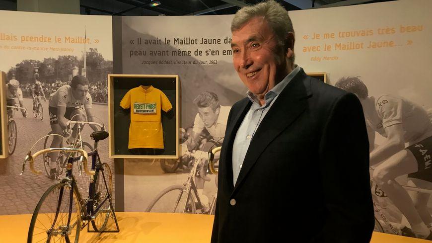 """Eddy Merckx, le """"cannibale"""", au Musée National du Sport de Nice"""