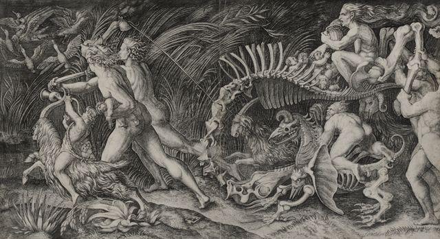 """Tableau de Marc-Antoine Raimondi """"Sur le chemin du Sabbat"""" peint vers 1520 présenté dans l'exposition Art mineur de fonds au MAMCS"""
