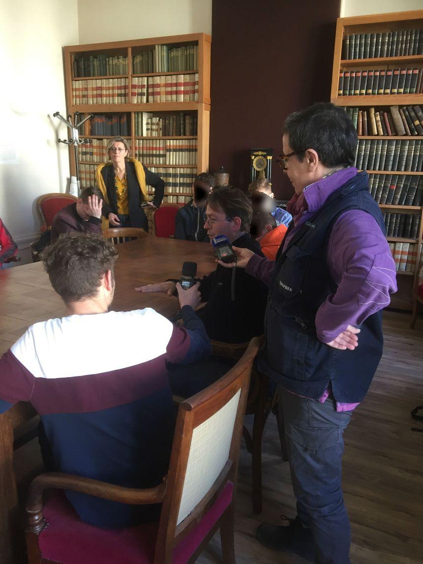 De jeunes mineurs reçus par le procureur de la République Nicolas Septe.