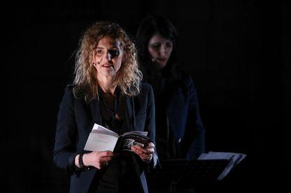 Delphine de Vigan, pour une lecture musicale au Palais Jacques Coeur (Festival du Printemps de Bourges, avril 2017)