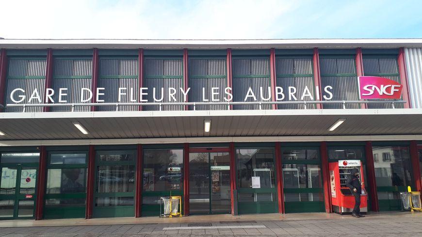 La gare de Fleury-les-Aubrais, près d'Orléans, le 21 janvier 2019
