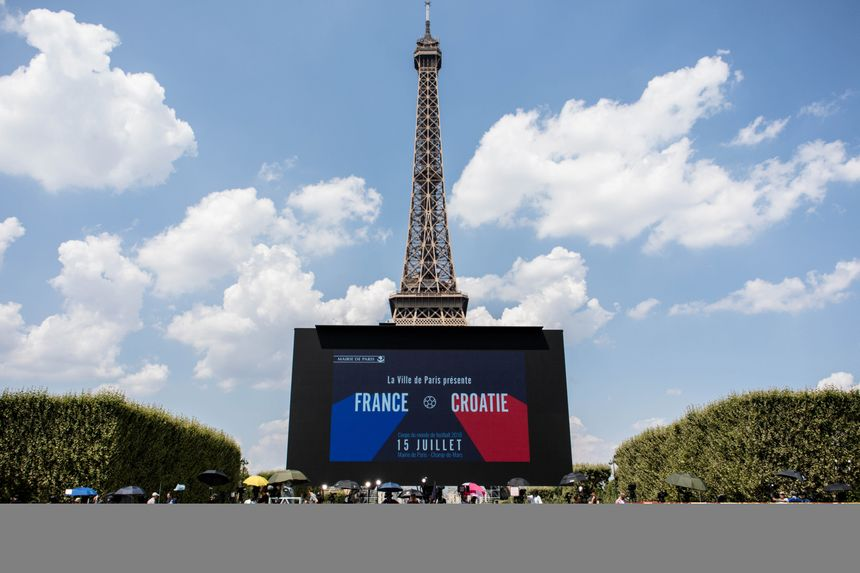 Finale de la Coupe du Monde de football en 2018.