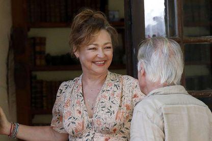 """Catherine Frot, sur le tournage de """"Qui m'aime me suive !"""" (sortie le 20 mars 2019)"""