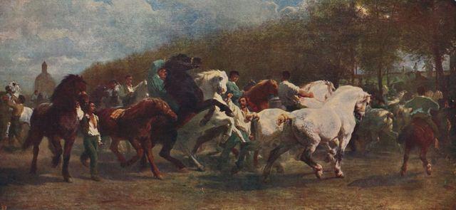"""""""Le Marché aux chevaux"""" de Rosa Bonheur"""