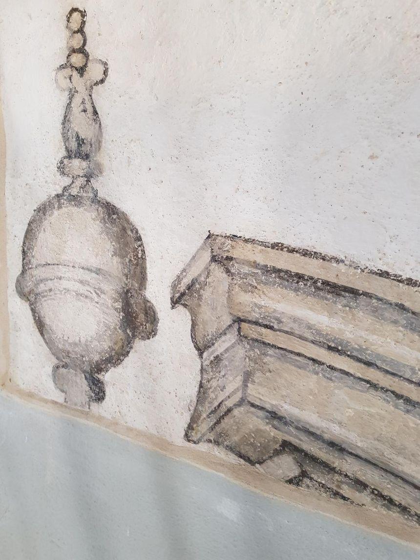 Les fresques datent de la construction du temple entre 1601 et 1607