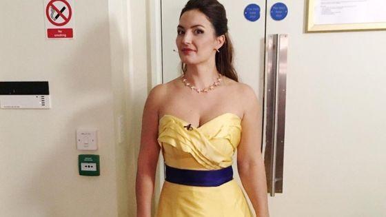 La robe pro-européenne d'Anna Patalong, qu'elle a été invitée à ne pas porter pour son dernier concert