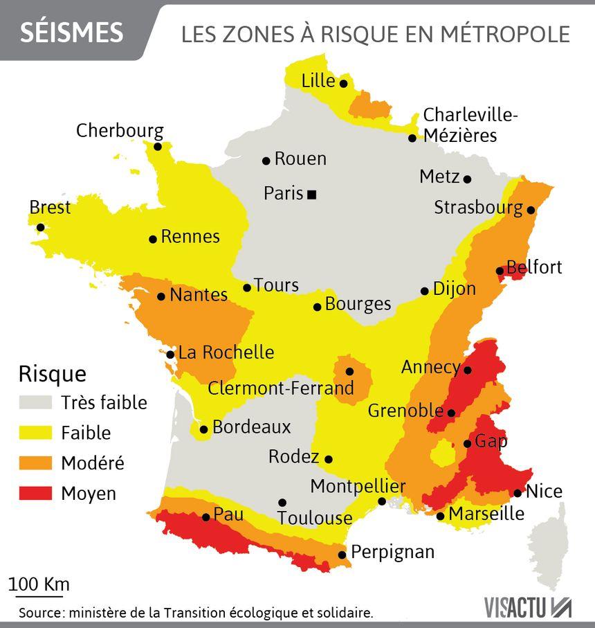 Les zones à risque en métropole