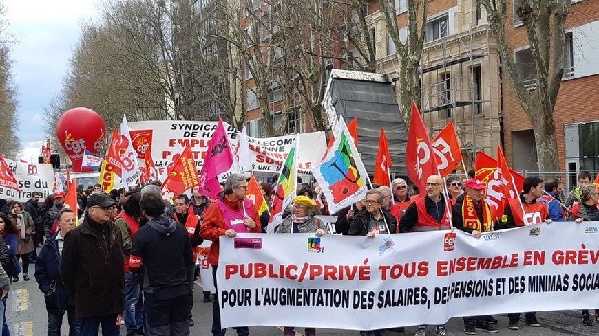 La manifestation interprofessionnelle à Toulouse
