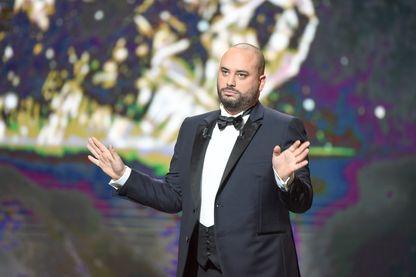 Jérôme Commandeur, humoriste français, lors de la cérémonie des César 2017 (Paris, 24 février 2017).
