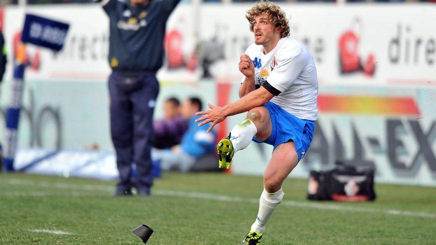 Mirco Bergamasco au tournoi des VI Nations 2011, année où l'Italie avait battu la France à Rome