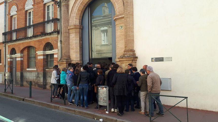 L'entrée de la Cour d'Assises de Haute-Garonne ce vendredi.