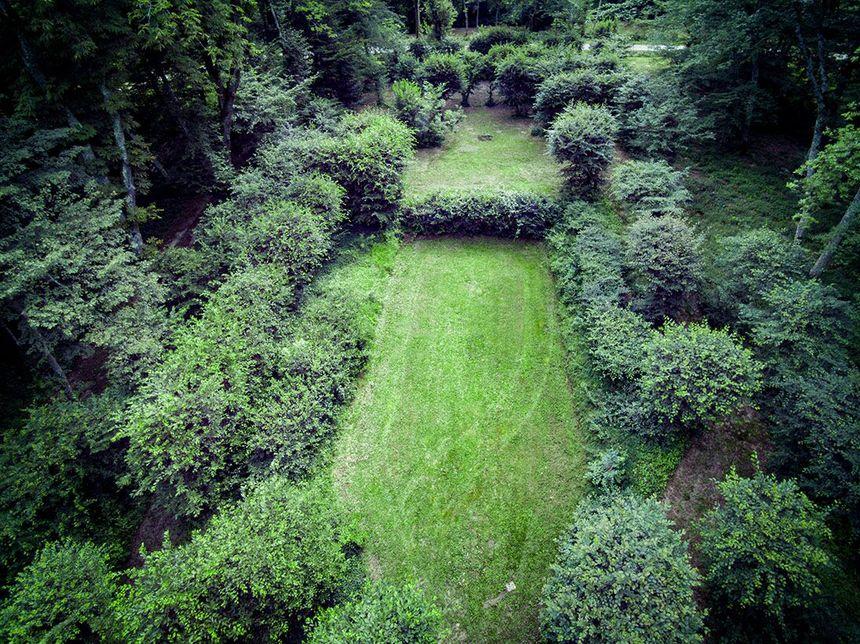Le théâtre de verdure du jardin de Jours-en-Vaux