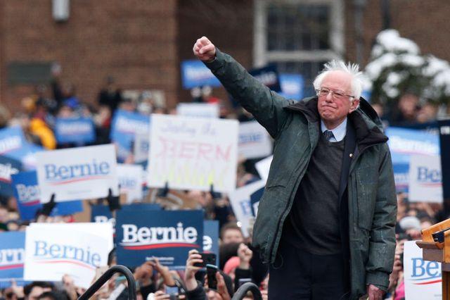 Bernie Sanders a choisi un public d'étudiants pour son premier meeting de campagne en mars 2019 au Brooklyn College