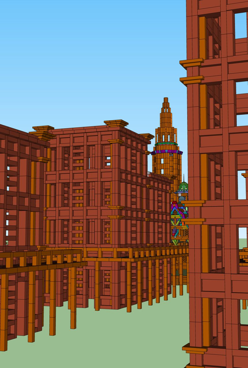 Lors de la soirée d'ouverture vous pourrez participer à la construction d'une ville en carton.