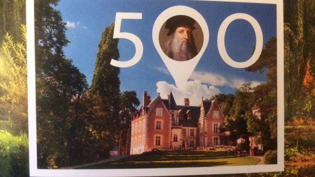 Le timbre des 500 ans de la mort de Léonard de Vinci