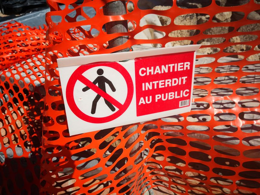 Chantier interdit au public. Travaux. 24 avril 2019.