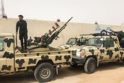 Des miliciens de la coalition d'Haftar qui ont lancé l'offensive sur Tripoli
