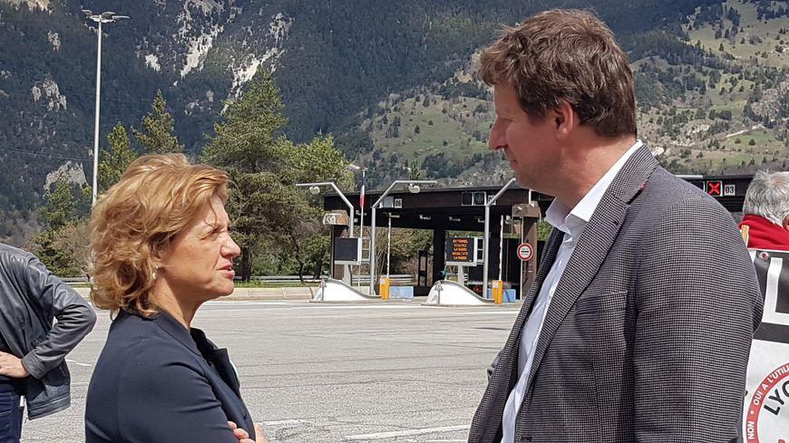 Ce mardi, Yannick Jadot a effectué une tournée sur différents points de la Savoie, en compagnie de ses homologues italiens