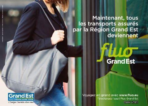Une campagne de communication accompagne le lancement de Fluo Grand Est