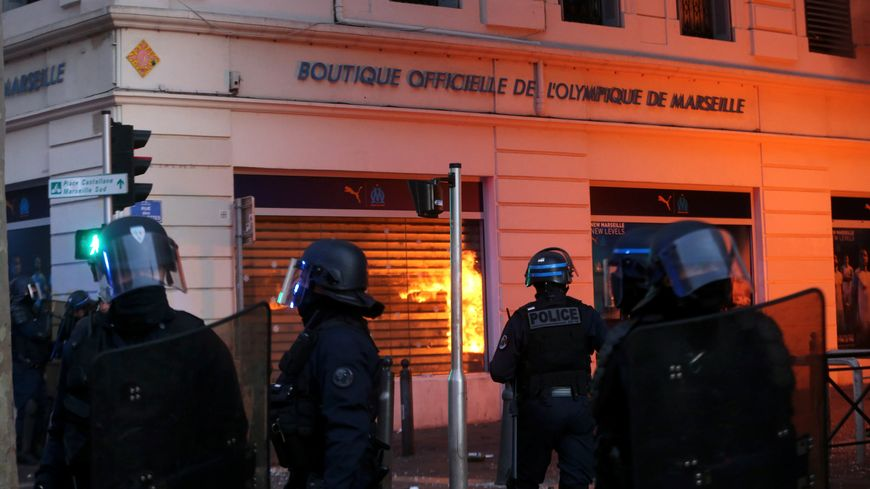 Le 8 décembre, la boutique de l'OM avait été saccagée alors que des heurts avaient éclaté en marge d'une manifestation
