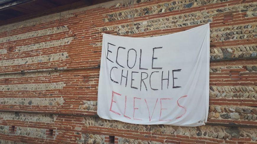 Le village de Goyrans - 500 habitants - se mobilise pour éviter la fermeture d'une des trois classe de l'école